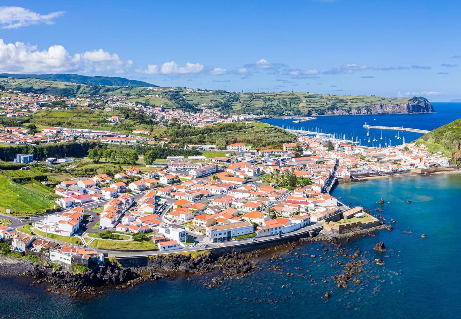 Baia da Horta na ilha do Faial
