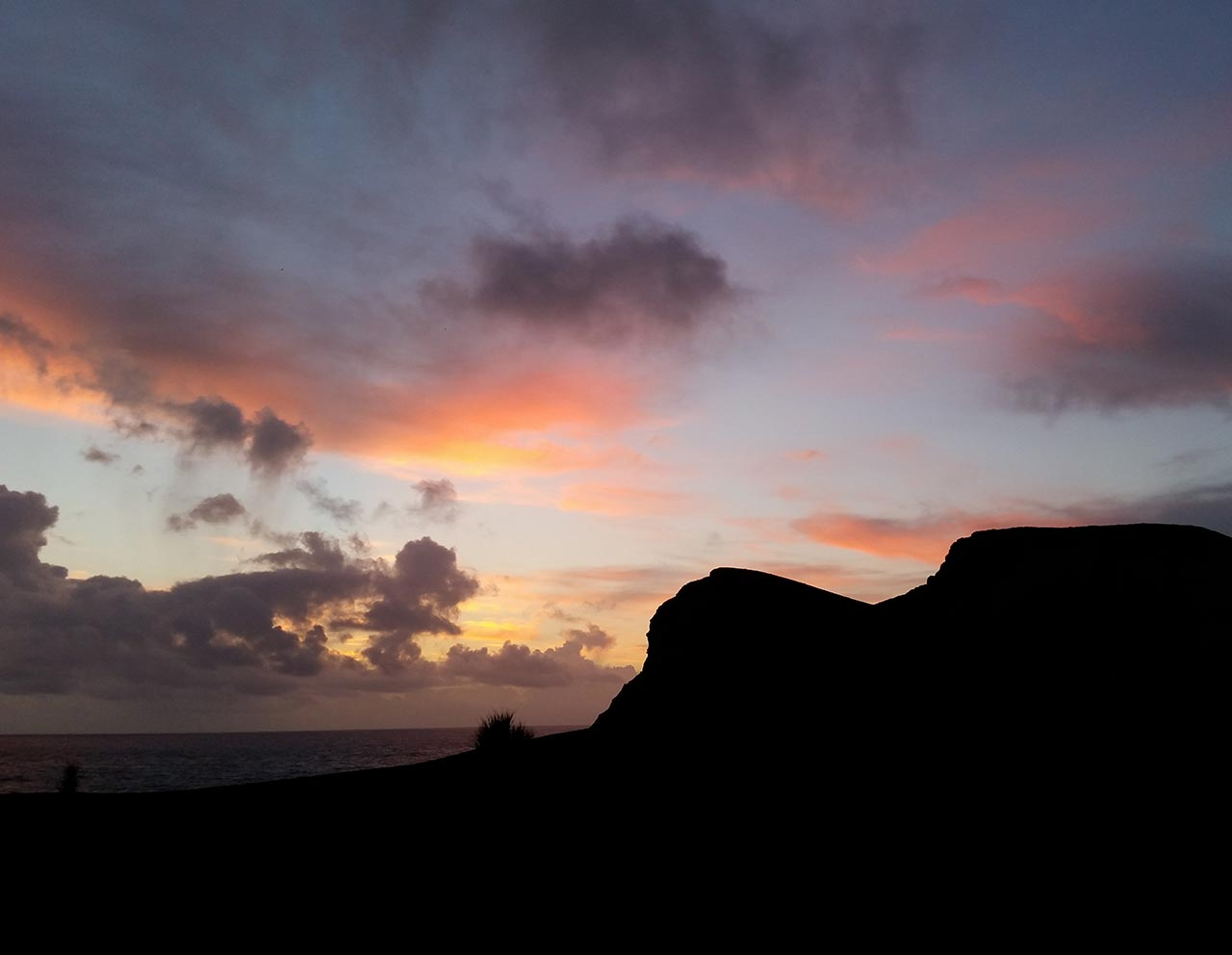 Sunset na ilha do Faial