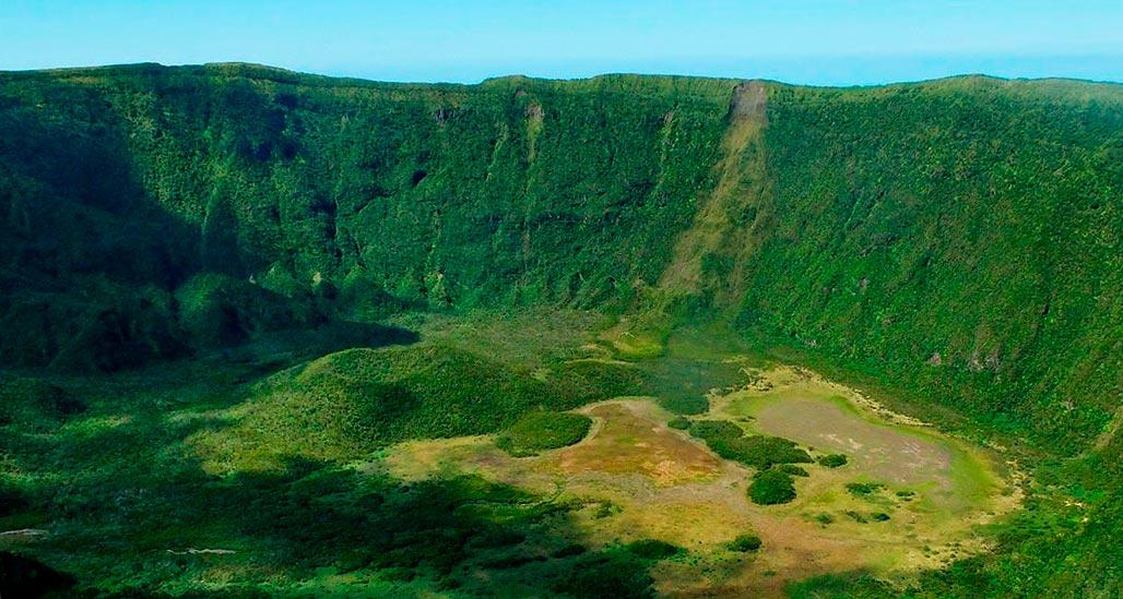 natural reserve Caldeira in Faial Island